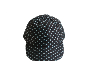 Aqua Dots on Brown Cap