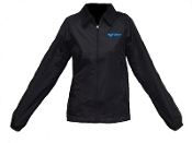 Ash City, lightweight, vented, jacket, windbreaker, stylish, women's, golf, cool weather, black, turquoise, golf diva, diva