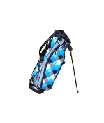 Blue Plaid Swag Bag